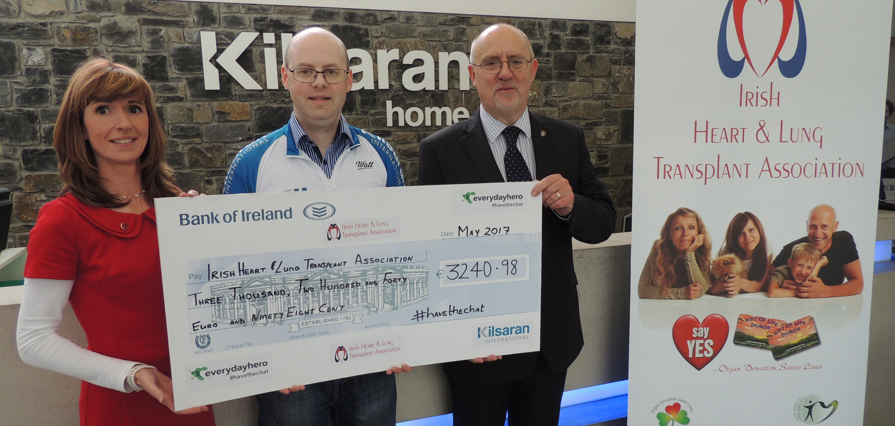 Ken Mulkerrins of Kilsaran Raises over €3,200 for IHLTA